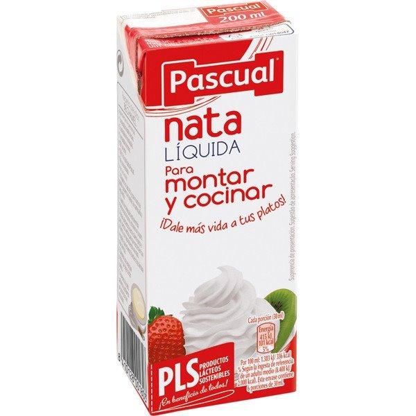 Nata líquida para montar y cocinar Pascual 200ml