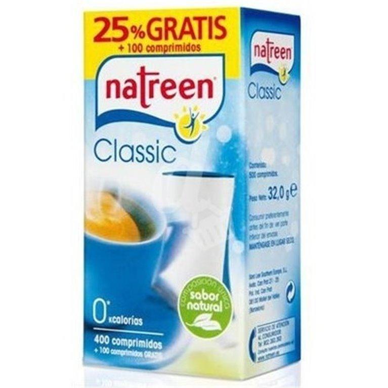Natreen Classic (400 comprimidos, 0 kcal, sabor natural, 50% gratis)