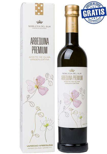 Nobleza del Sur Arbequina Premium. Caja de 6 estuches x 500 ml.