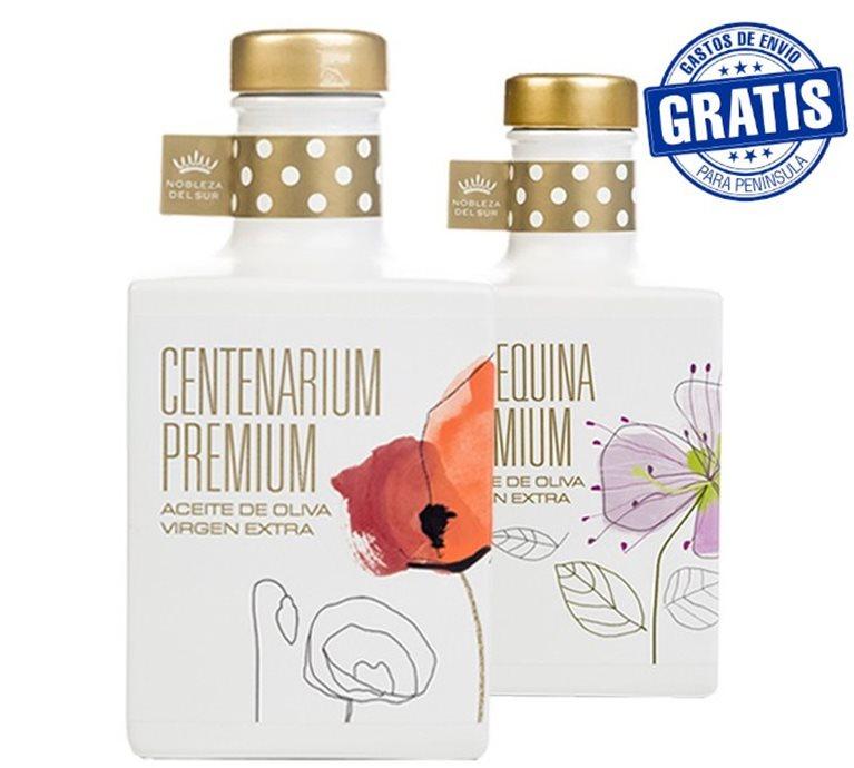 Nobleza del Sur, Centenarium premium + Arbequina premium. Caja de 6 + 6 unidades x 350 ml.