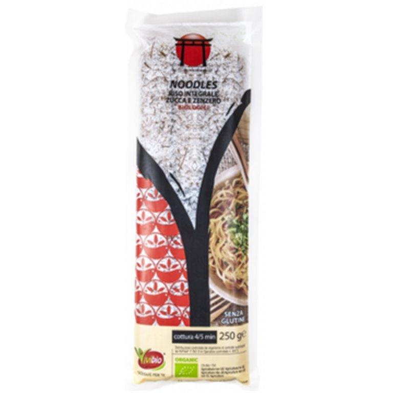 Noodles de Arroz Integral, Calabaza y Jengibre Sin Gluten Bio 250g, 1 ud