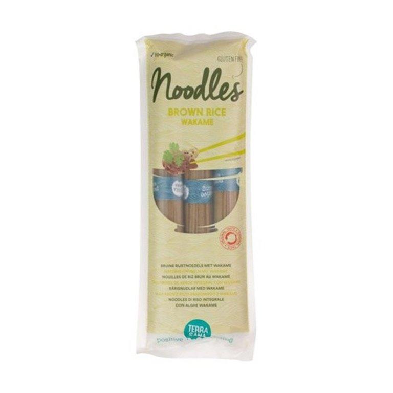 Noodles de Arroz Integral con Alga Wakame Bio 250g