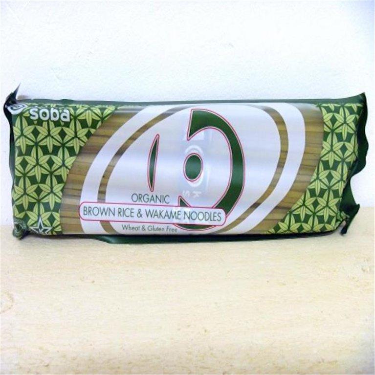 Noodles de arroz integral y alga wakame King Soba 240g