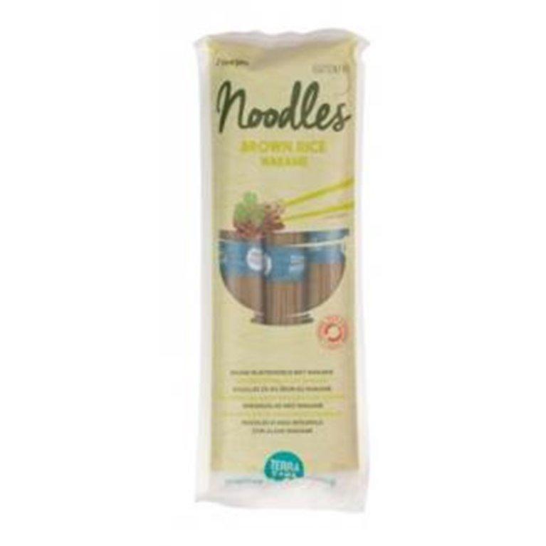Noodles de Arroz Integral y Alga Wakame Sin Gluten Bio 250g