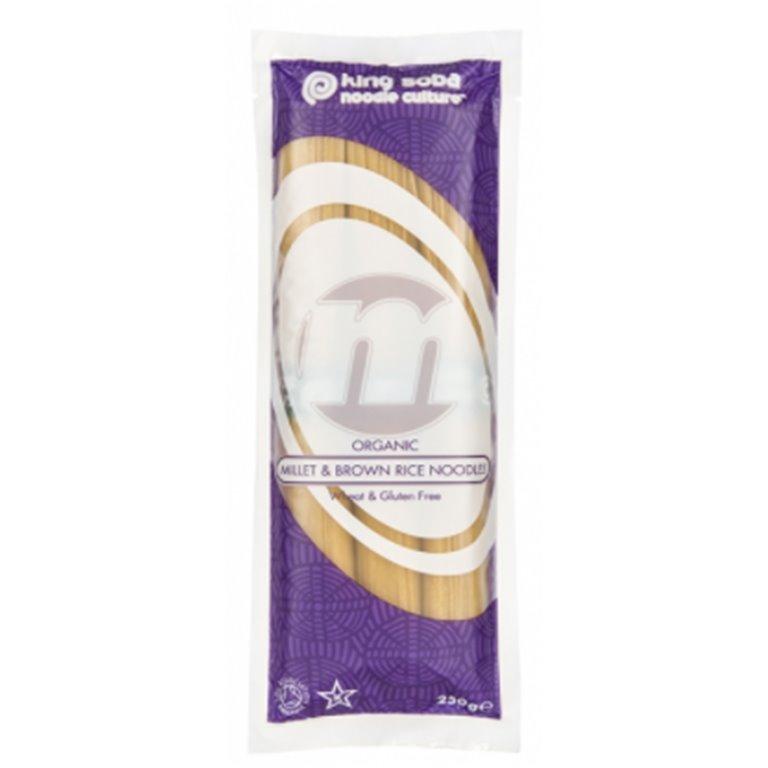 Noodles de Mijo y Arroz Integral Sin Gluten Bio 250g