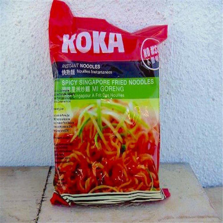 Noodles Koka al estilo de Singapur