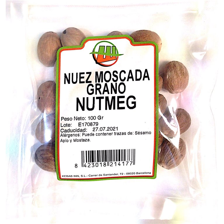 Nuez Moscada Grano 100g