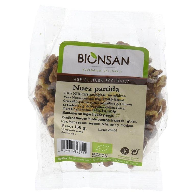 Organic split walnuts -150gr