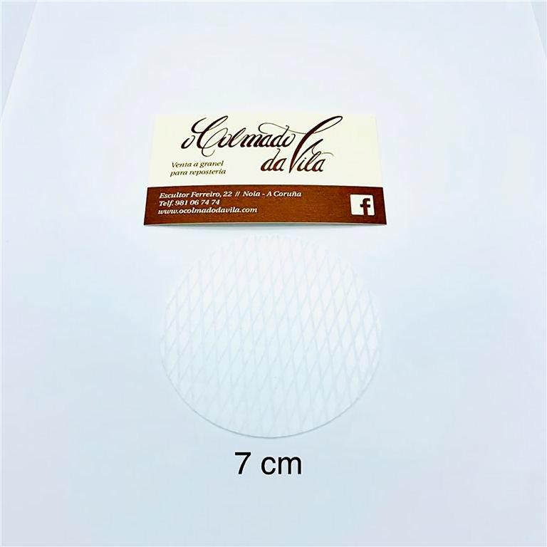 Oblea redonda de 7 cm