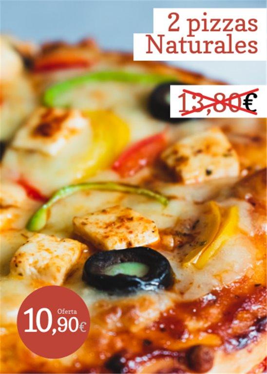 Oferta: 2 pizzas naturales
