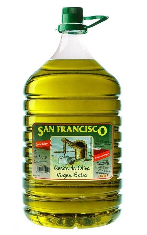 Oleícola San Francisco Picual. 3 Garrafas de 5 Litros, 1 ud