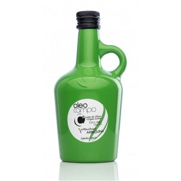Oleocampo premium. Variedad arbequina. Jarra 500 ml. Caja 12 uds.