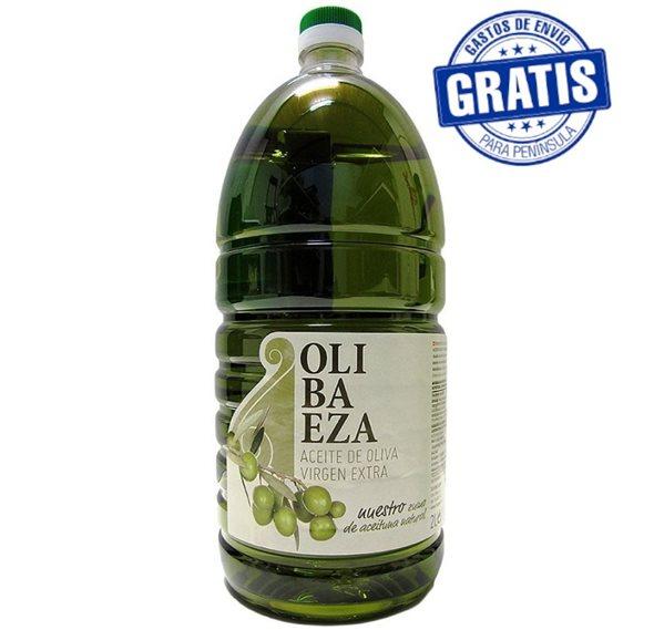 Olibaeza. Aceite de oliva Picual. 6 X 2 Litros
