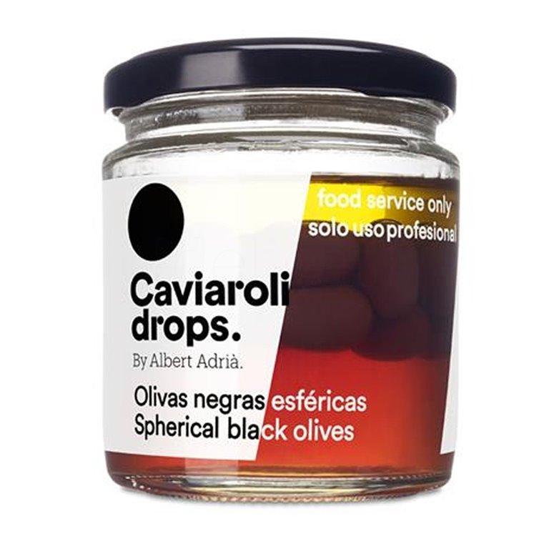 Oliva Negra Esférica Drops (30 olivas) 70gr. Caviaroli. 4un., 1 ud