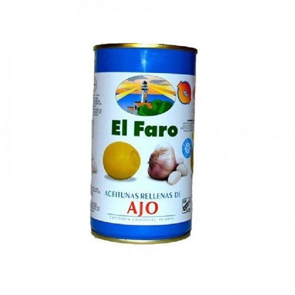 Olivas rellenas de Ajo el Faro 350 gr.