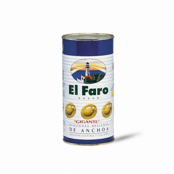 Olivas rellenas de Anchoa Gigantes el Faro 1,4 Kg.