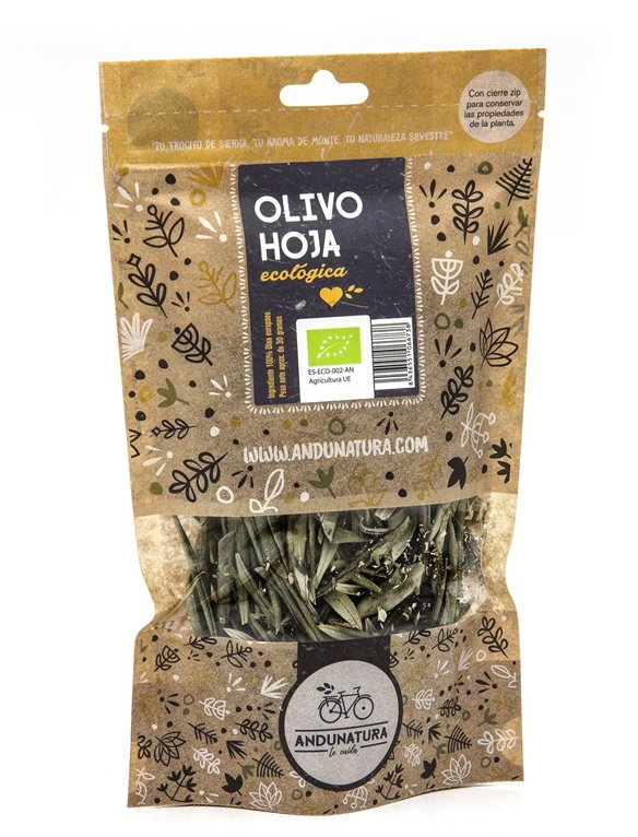 Olive Leaves Kraft Bag  30g ORGANIC