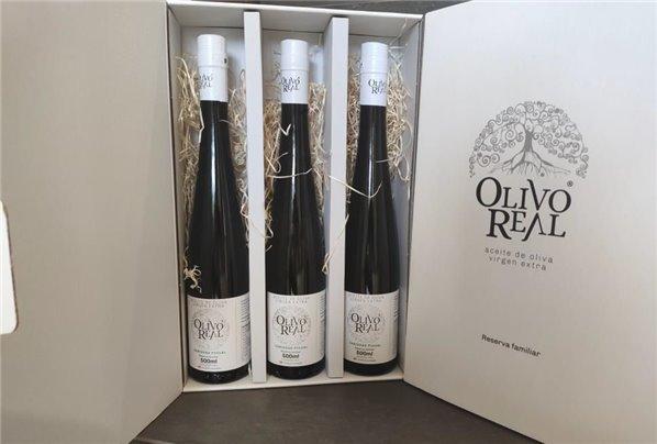 Olivo Real Reserva Familiar. Estuche triple de 500 ml.