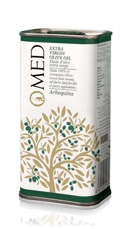 Omed. Aceite de oliva virgen extra Arbequina. 24 Latas de 250 ml, 1 ud