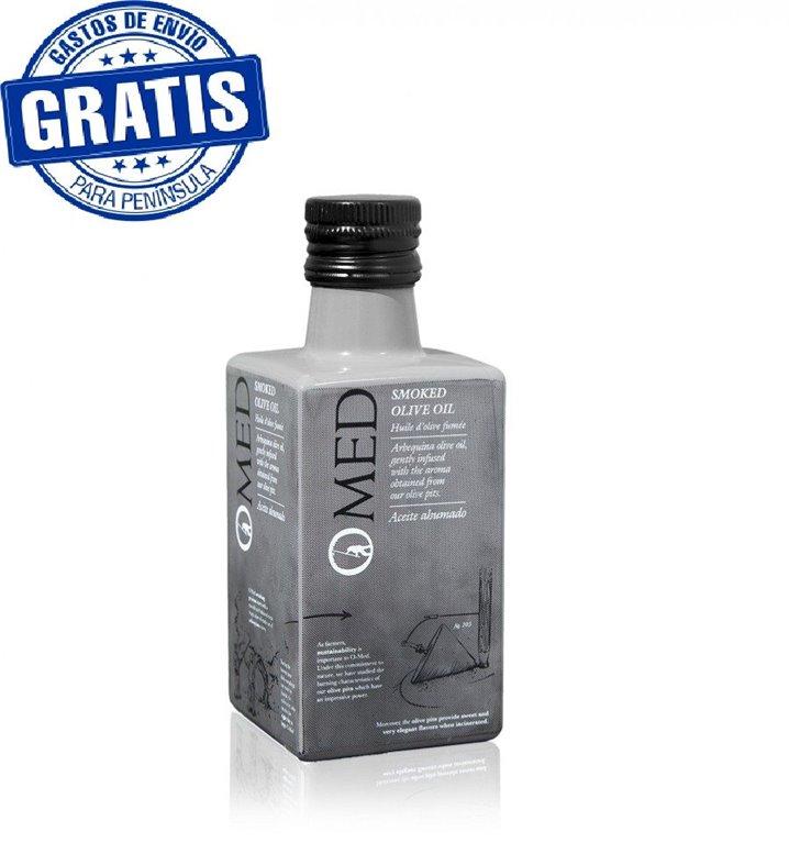 Omed. Aceite de oliva virgen extra ahumado. Botella de 250 ml. Caja de 9 unidades., 1 ud