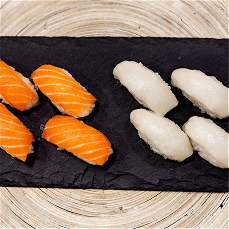 Orange & White 8 Niguiris