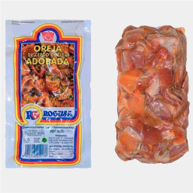 Oreja de Cerdo Cocida Adobada 500g Rogusa