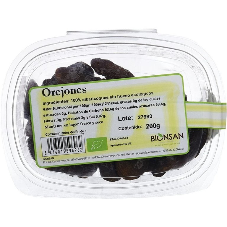 Orejones dulces ecológicos -200gr
