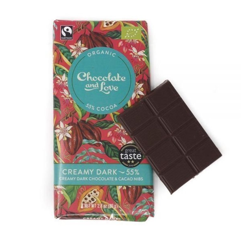 Organic Chocolate and Love - Creamy Dark, 1 ud