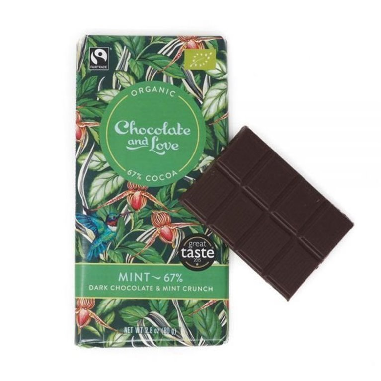 Organic Chocolate and Love - Mint, 1 ud