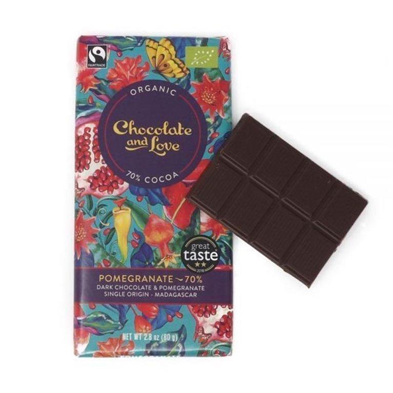 Organic Chocolate and Love - Pomegranate, 1 ud