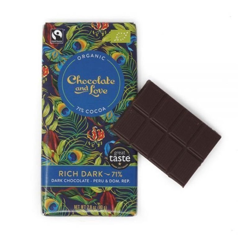 Organic Chocolate and Love - Rich Dark, 1 ud