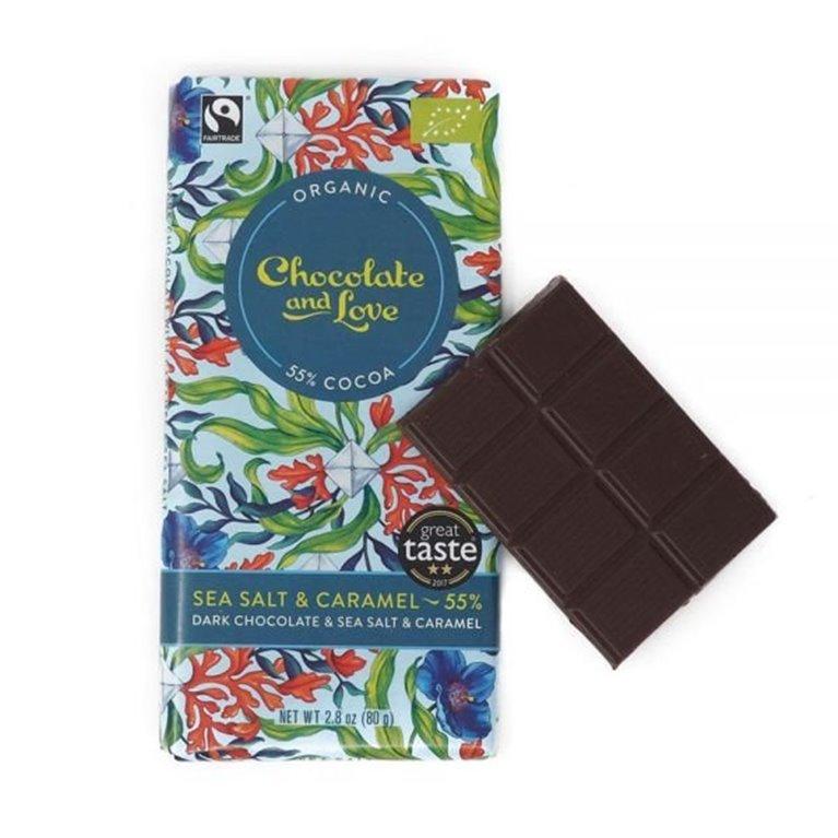 Organic Chocolate and Love - Sea Salt & Caramel, 1 ud