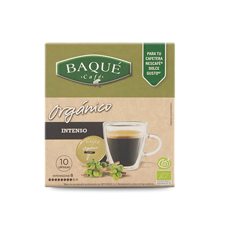 Orgánico INTENSO - Cápsulas compatibles Dolce Gusto®, 10 ud