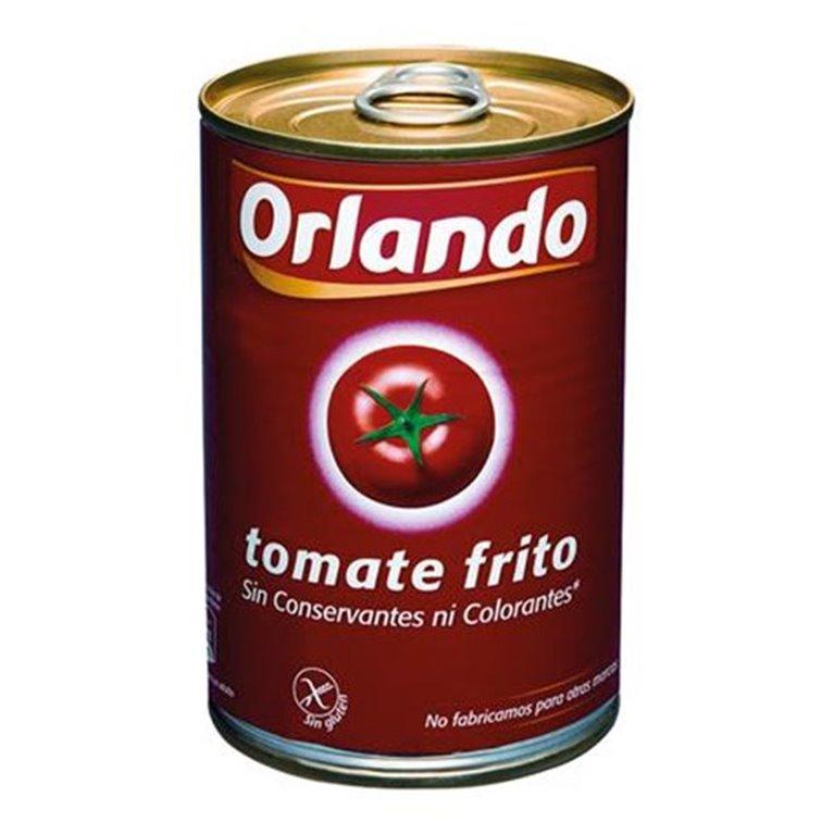 Orlando - Lata de tomate frito 400 gr (sin gluten ni conversantes), 1 ud