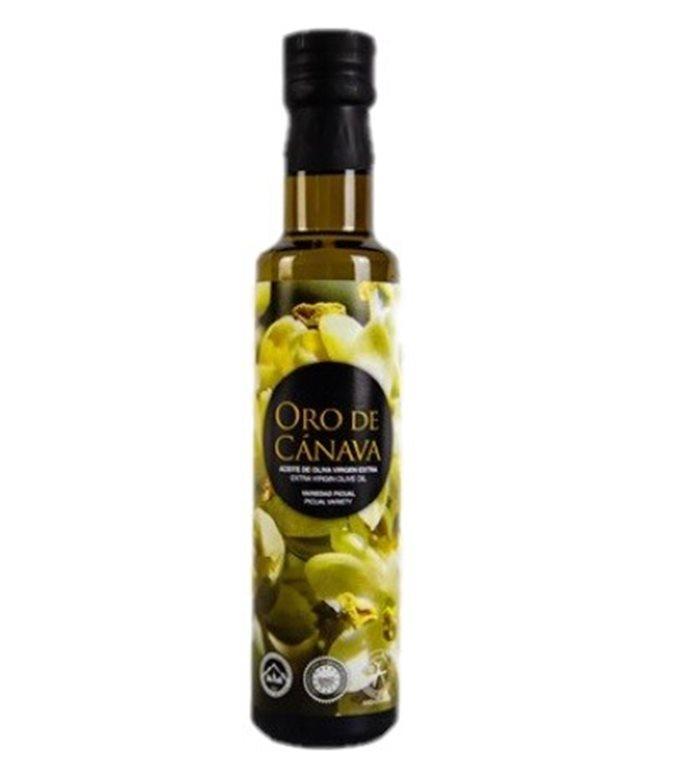 Oro de Cánava. Aceite de oliva Picual. Botella Dórica de 250 ml.