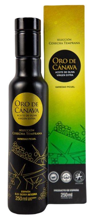 Oro de Canava cosecha temprana. 250 ml. Caja de 12 uds.