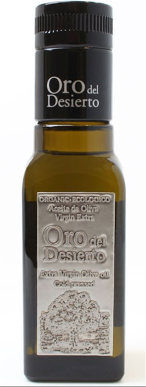 Oro del Desierto. Aceite de oliva Ecológico Coupage. 100 ml. Caja de 24 uds., 1 ud