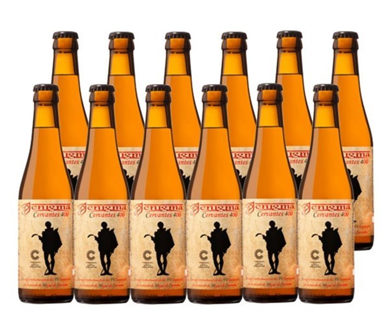 Pack 12 Botellas 33cl Cerveza Artesana Enigma Cervantes 400, 1 l