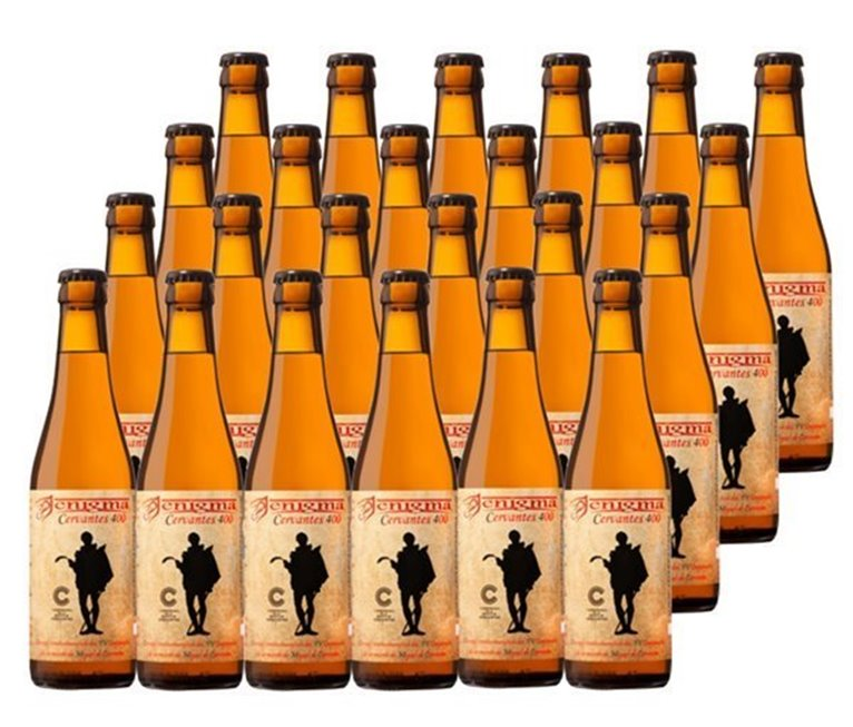 Pack 24 Botellas 33cl Cerveza Artesana Enigma Cervantes 400, 1 l