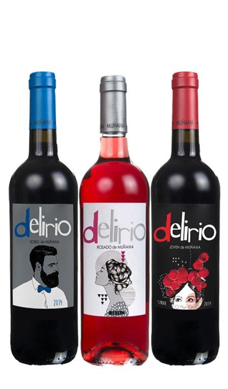 Pack 3 Botellas de Vino Delirio de Muñana, 1 ud
