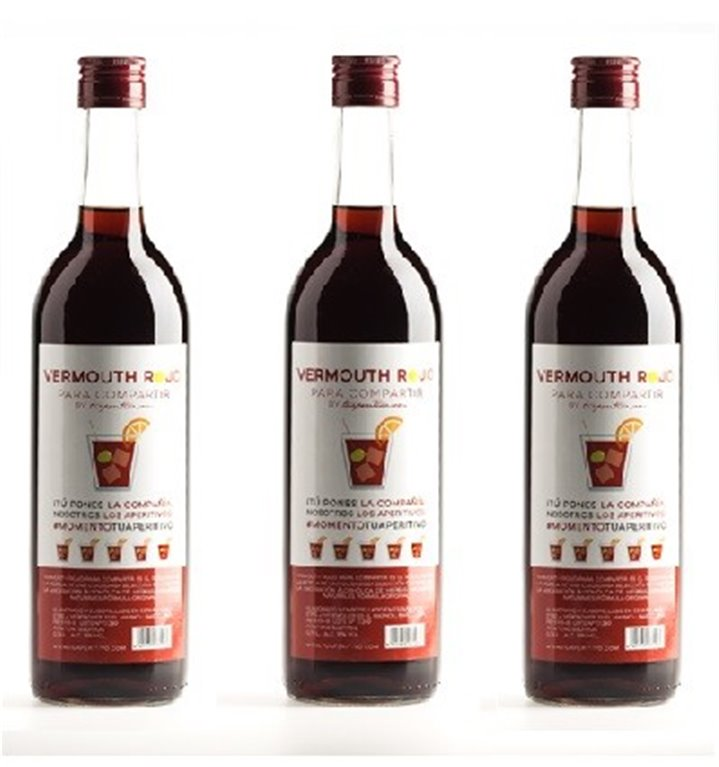 Pack 3 Vermouth Rojo Para Compartir