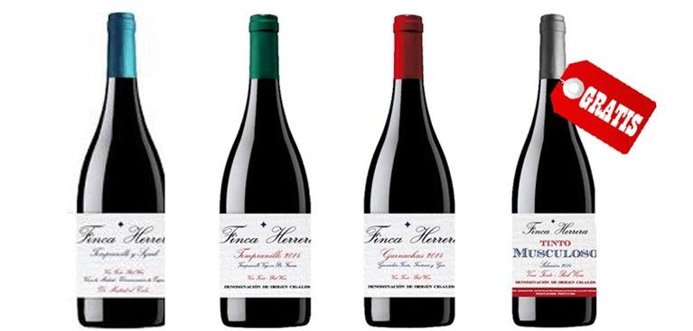 Pack 3+1 Botellas Vino Tinto Finca Herrera, 1 ud