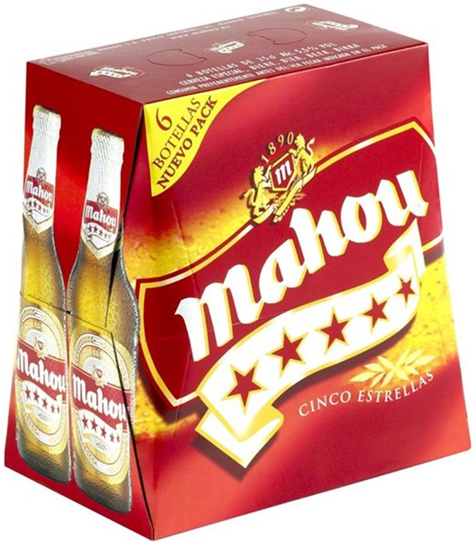 Pack 6 botellines cerveza Mahou