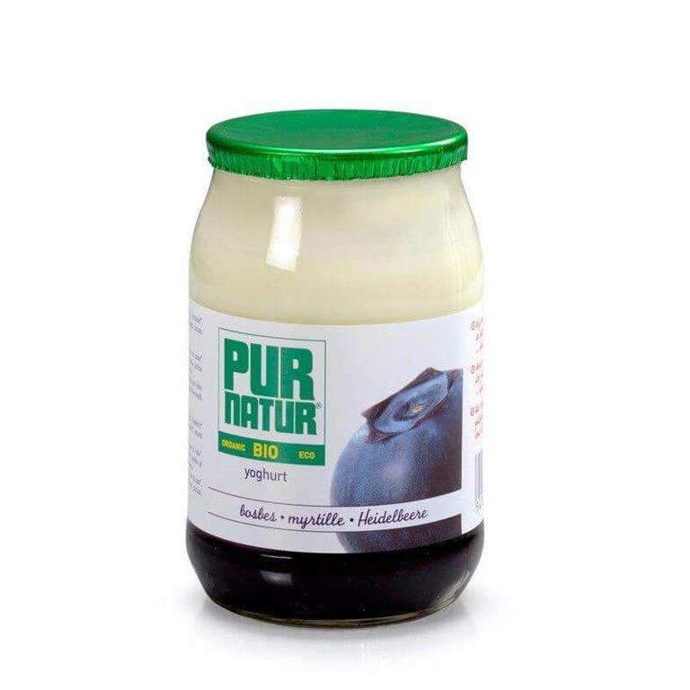 Pack 8x  Yogur con arándanos BIO 150 g - Pur Natur