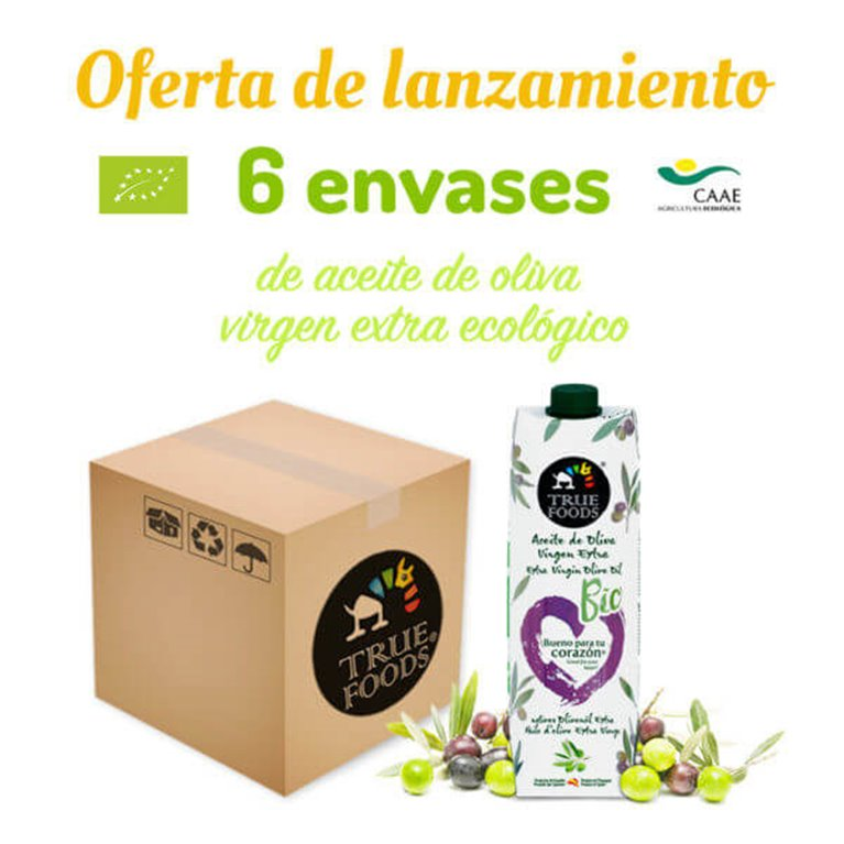 Pack Aceite de oliva virgen extra 6*1L - True Foods