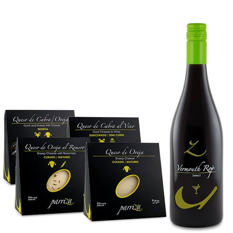 Pack Amantes del queso + Vermouth Rojo Select 15% vol., 1 ud