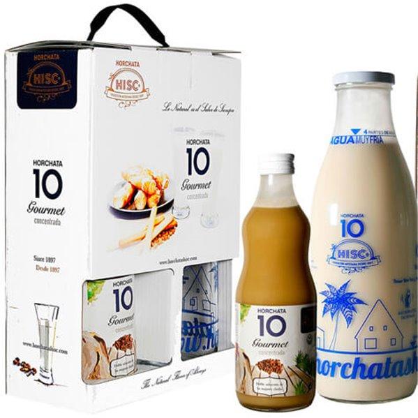Pack botella de horchata concentrada HISC + botella medidora