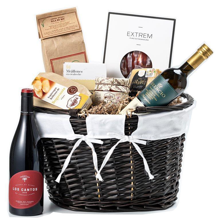 Pack con delicatessen, vinos y sacacorchos, 1 ud