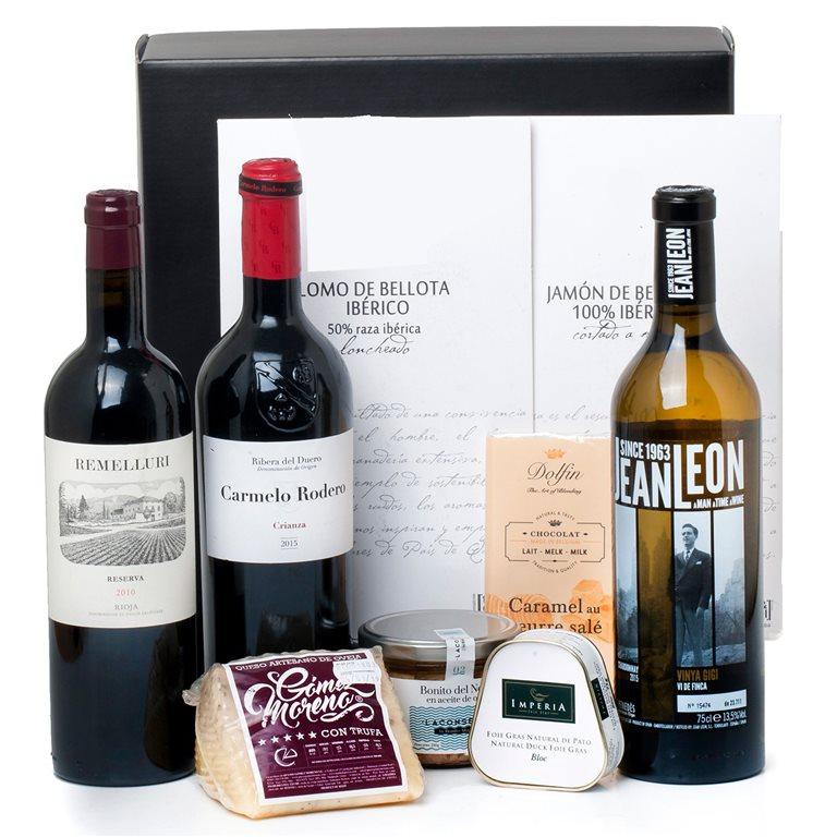 Pack con Vinos, Foie, Ibéricos y Tentaciones Gourmet, 1 ud