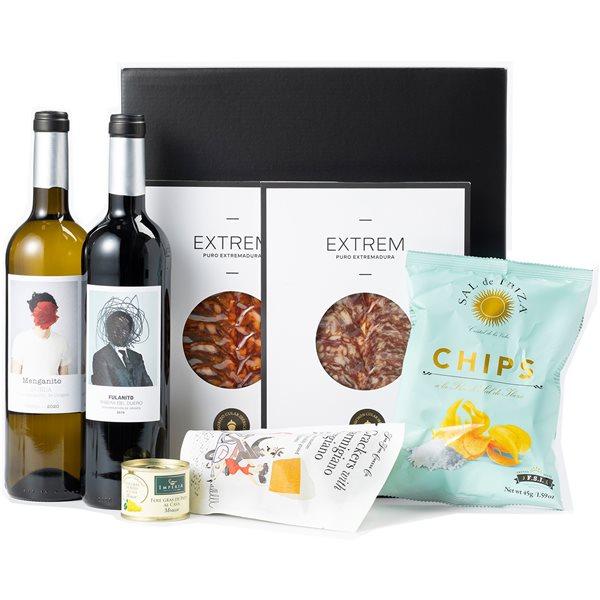 Pack con Vinos, Ibéricos y Bocados Gourmet